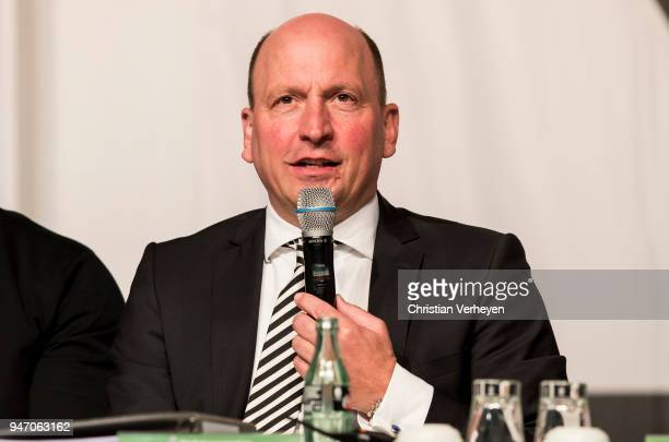 Managing director Stephan A C Schippers of Borussia Moenchengladbach during the Annual Meeting of Borussia Moenchengladbach at BorussiaPark on April...