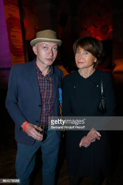 Managing Editor at 'Beaux Arts magazine' Fabrice Bousteau and Suzanne Page attend the 'Bal Jaune Elastique 2017' Dinner Party at Palais Brongniart...