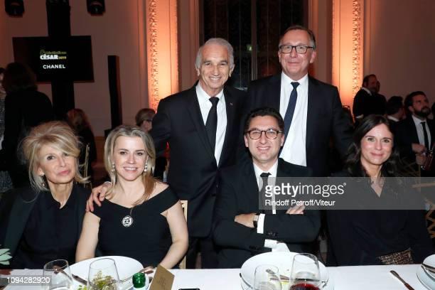 Managing editor at Madame Figaro AnneFlorence Schmitt Maxime Saada his wife Sylvie Saada President of Academy des Cesars Alain Terzian President of...
