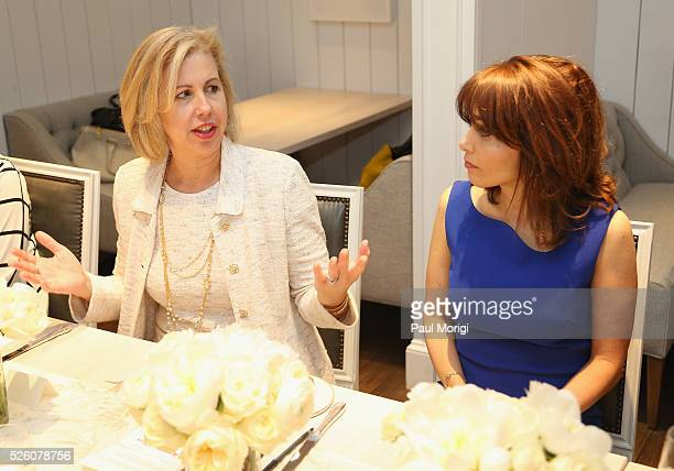 Managing Editor for Time magazine Nancy Gibbs and VP Chief Privacy Officer Policy at Facebook Erin Egan attend the Glamour and Facebook brunch to...