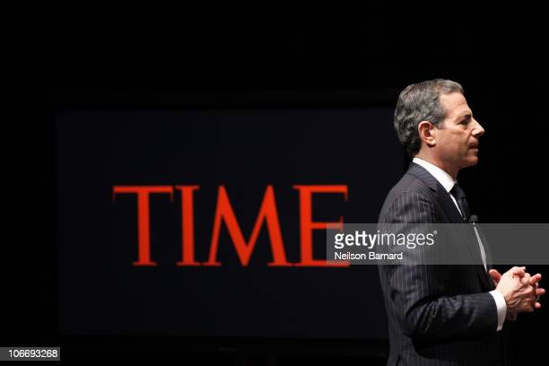 Managing Editor for Time Richard Stengel attends the TIME's 2010 Person of the Year Panel at Time Life Building on November 10 2010 in New York New...