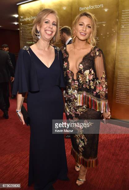 Managing editor Nancy Gibbs and Blake Lively attend 2017 Time 100 Gala at Jazz at Lincoln Center on April 25, 2017 in New York City.
