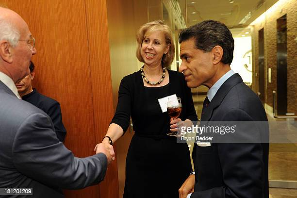 Managing Editor Nancy Gibbs and Fareed Zakaria attend the TIME Summit On Higher Education Day 1 at Time Warner Center on September 19 2013 in New...