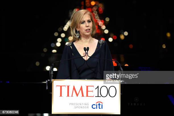 TIME managing editor Nancy Gibbs speaks during 2017 Time 100 Gala at Jazz at Lincoln Center on April 25 2017 in New York City