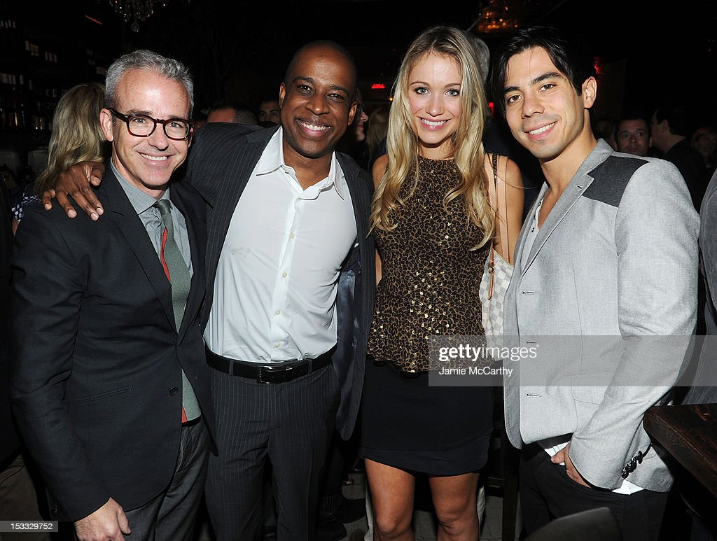 Managing Editor of Entertainment Weekly Jess Cagle and actors Keith Powell and Katrina Bowden attend Entertainment Weekly and NBC's celebration of the final season of 30 Rock sponsored by Garnier Nutrisse on October 3, 2012 in New York City.