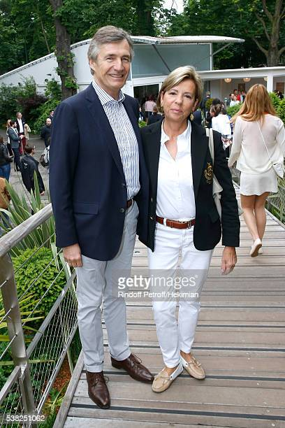 Managing editor of Les Echos newspaper Nicolas Beytout and his wife Sylvie Lebigre attend Day Fifteen Men single's Final of the 2016 French Tennis...