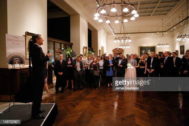 Managing Editor Richard Stengel addresses guest at the Book Signing party for TIME's Nancy Gibbs and Michael Duffy's book The Preidents Club at the...