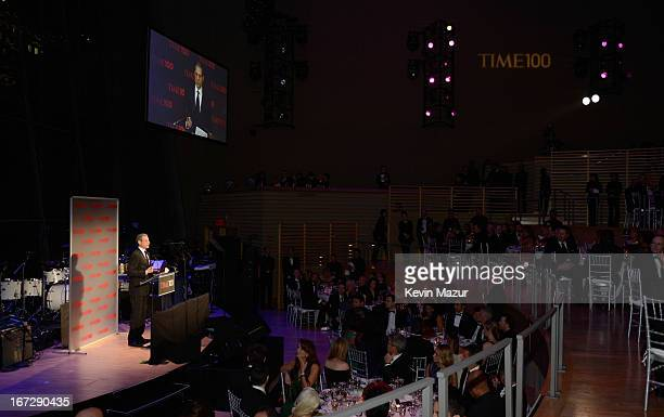 TIME managing editor Rick Stengel speaks on stage at TIME 100 Gala TIME'S 100 Most Influential People In The World at Jazz at Lincoln Center on April...