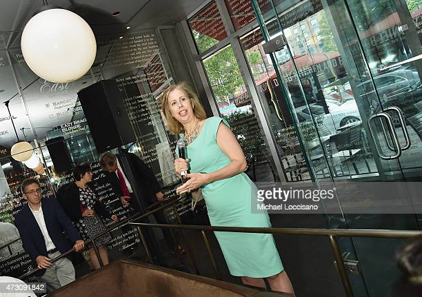 """Managing Editor, Time Magazine Nancy Gibbs addresses guests during the book party for Ian Bremmer's book, """"Superpower: Three Choices For America's..."""
