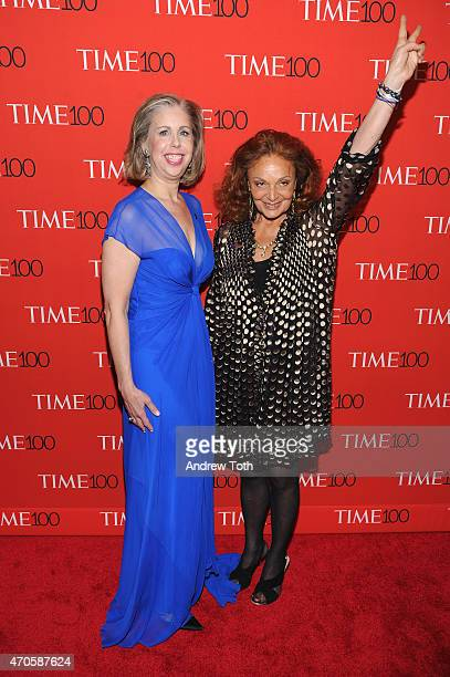 Managing Editor Time Magazine Nancy Gibbs and Diane von Furstenberg attend the 2015 Time 100 Gala at Frederick P Rose Hall Jazz at Lincoln Center on...