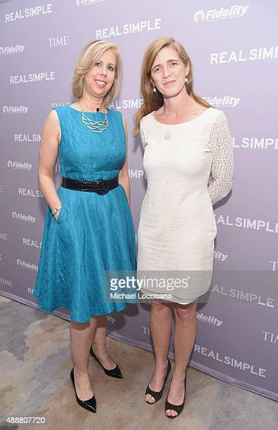 Managing Editor TIME Magazine Nancy Gibbs and United States Ambassador to the UN Samantha Power attend TIME And Real Simple's Annual Women Success...