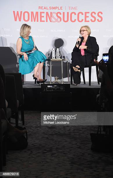 Managing Editor TIME Magazine Nancy Gibbs and US Senator Claire McCaskill take part in the TIME And Real Simple's Annual Women Success Event at Park...