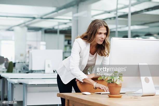 Managing her business with great skill