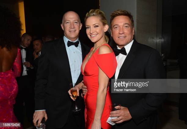 CAA Managing Partner Bryan Lourd Actress Kate Hudson and CAA Managing Partner Kevin Huvane attend amfAR's Inspiration Gala at Milk Studios on October...