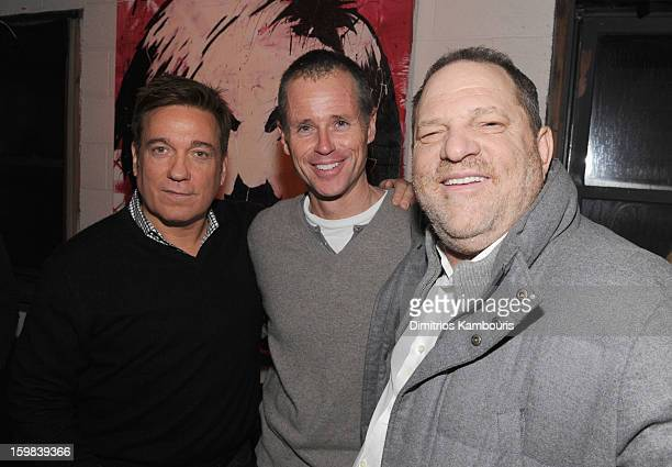 Managing Partner CAA Kevin Huvane CAA Agent Chris Andrews and producer Harvey Weinstein attend the CAA Sundance Party featuring Simon Hammerstein's...