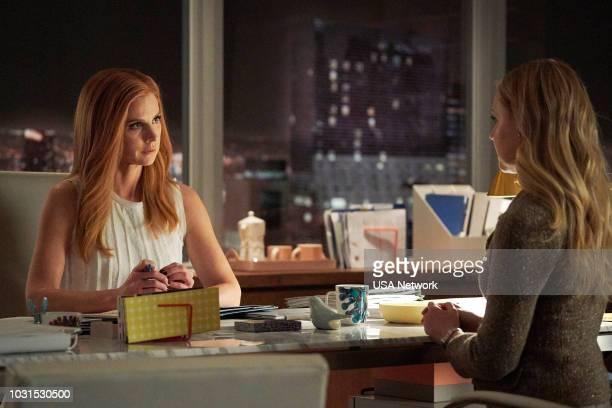 SUITS 'Managing Partner' Episode 810 Pictured Sarah Rafferty as Donna Paulsen Amanda Schull as Katrina Bennett