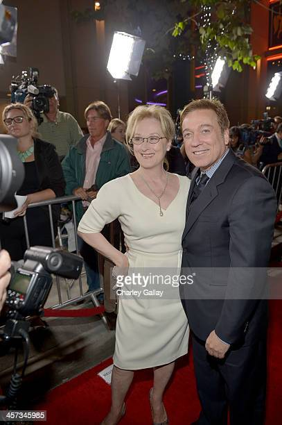 Managing Partner Kevin Huvane and actress Meryl Streep attend the LA premiere Of August Osage County presented by The Weinstein Company in...