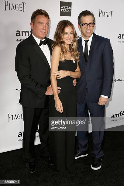 CAA Managing Partner/amFAR Honoree Kevin Huvane actress Sarah Jessica Parker and Designer/amFAR Chairman Kenneth Cole arrive at amfAR's Inspiration...