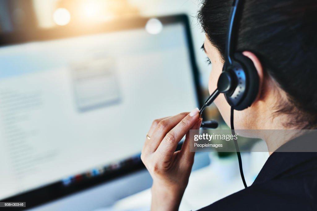 Managing the day's inquiries : Stock Photo