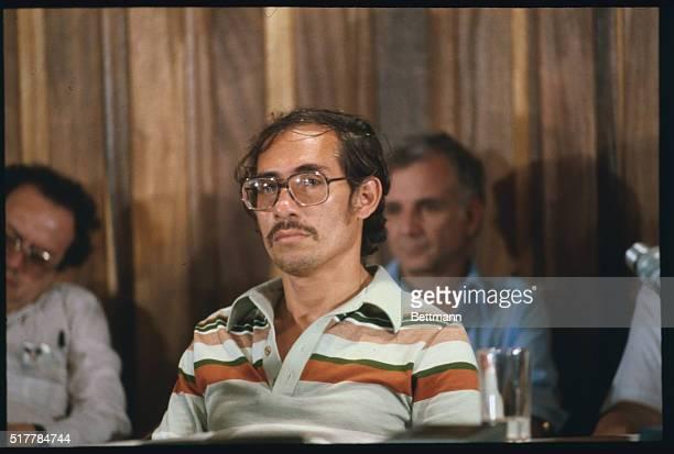 Close ups of Moises Hassan member of the Nicaraguan junta