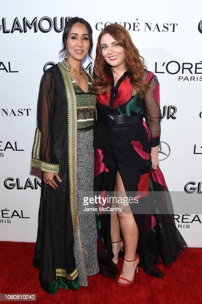 Manal alSharif and Glamour EditorinChief Samantha Barry attend the 2018 Glamour Women Of The Year Awards Women Rise on November 12 2018 in New York...