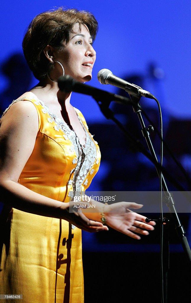 Lebanese Singer Omayma Al Khaleel Sings A Song Of Lebanese Musician Marcel  Khalife 01 March 2007