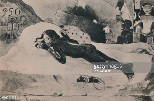 Manao Tupapau ' c1892 Print after a painting 'Spirit of the Dead Watching ' of Gauguin's young Tahitian wife Teha'amana lying naked Gauguin said the...