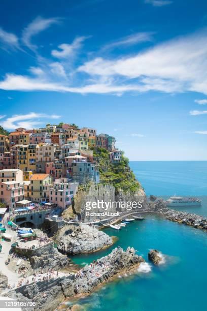 マナローラ、チンクエテッレ、イタリアのリビエラ、イタリア、 - カンパニア州 ストックフォトと画像