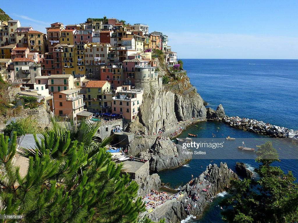 Manarola, Cinque Terre, Italy : Stockfoto