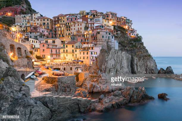 manarola, cinque terre, italy - unesco stock pictures, royalty-free photos & images