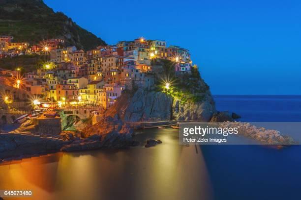Manarola in the night, Cinque Terre, Italy