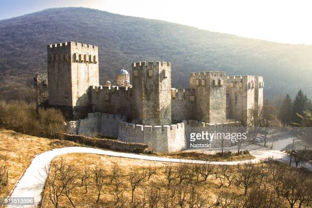 manasija monastery - serbia stock pictures, royalty-free photos & images