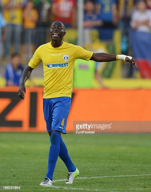 Manasse Enza Yamissi of FC Petrolul Ploiesti in action during the Romanian First Division match between FC Petrolul Ploiesti and FC Astra Ploiesti...