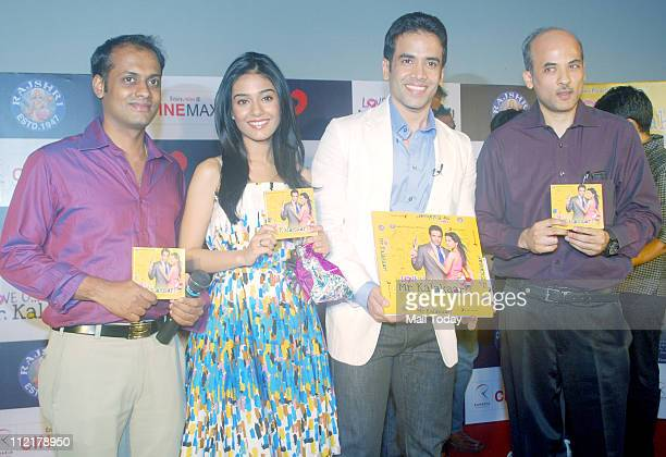 Manasvi Tusshar KapoorAmrita Rao and Sooraj Barjatya at the music launch of the film 'Love U Mr Kalakaar' at Cinemax Mumbai on 13th April 2011