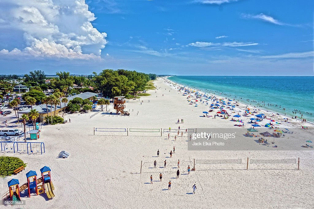 Manatee County Florida Public Beach Stock Photo