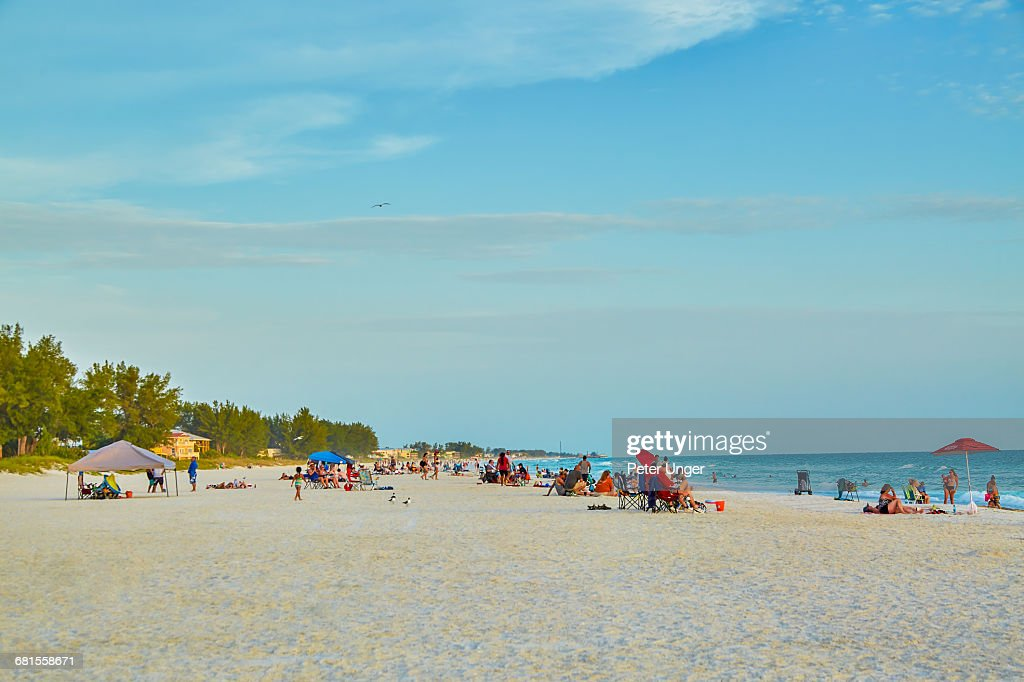 Manatee Public Beach Anna Maria Island Florida Stock Photo
