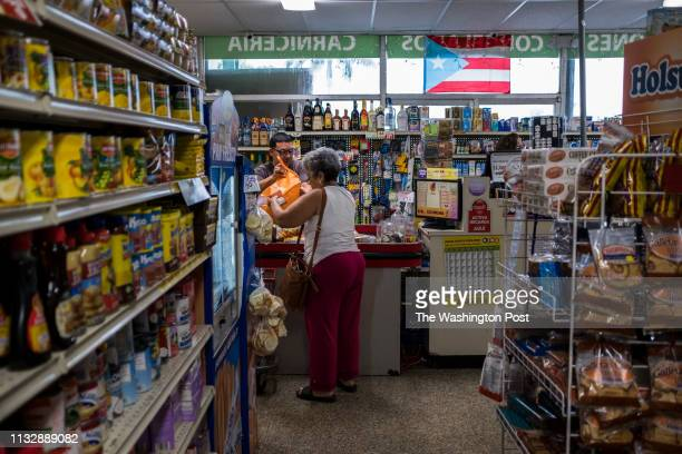 Manati PR MARCH Food Stamps beneficiaries do their groceries shopping at Agranel Supermarket in Manati Puerto Ricans have less money for food this...