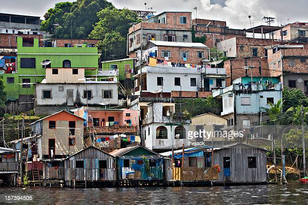 manaus city dwellings - manaus stock pictures, royalty-free photos & images