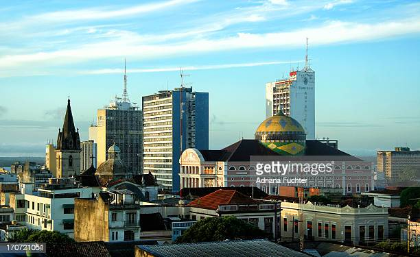 manaus skyline - manaus stock pictures, royalty-free photos & images