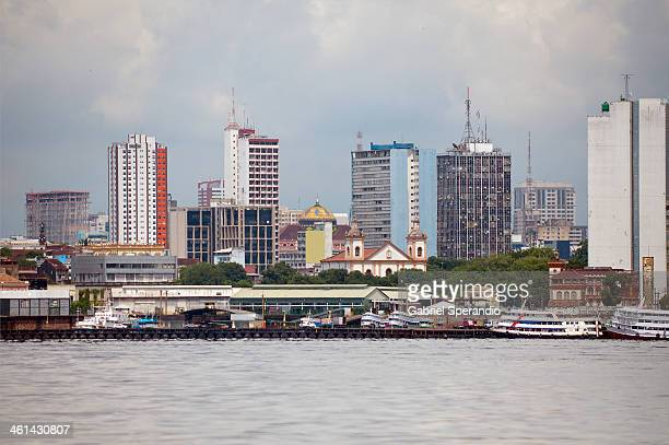 manaus, vista do rio negro - manaus stock pictures, royalty-free photos & images