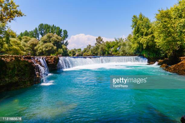 manavgat waterfall in turkey - antalya province stock pictures, royalty-free photos & images