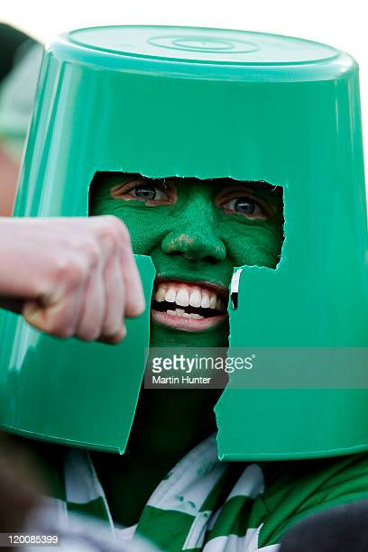 Manawatu fan shows his support during the round five ITM Cup match between Canterbury and Manawatu at Rugby Park on July 30 2011 in Christchurch New...