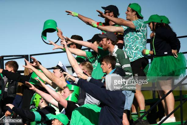 Manawatu fans show their support during the round nine Mitre 10 Cup match between Manawatu and Southland at Central Energy Trust Arena on October 14...