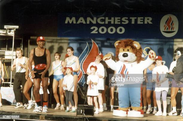 Manchester 2000 Olympic Bid Crowds await official announcement on who will be hosting the 2000 Olympic Games Decision Day 23rd September 1993...