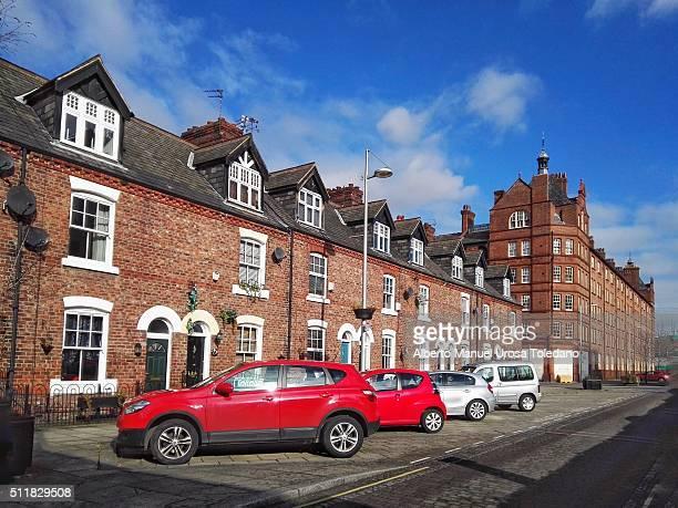 manchester, ancoats area - れんが造りの家 ストックフォトと画像