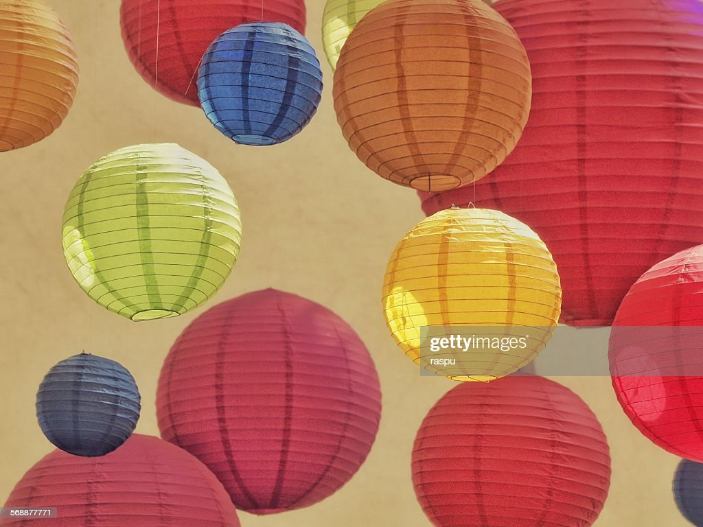 Manchester, balls of paper : Stock Photo