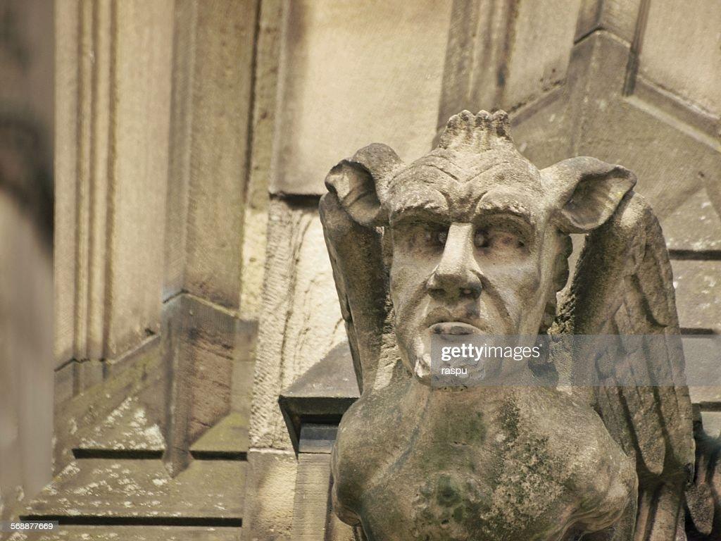 Manchester cathedral, a gargoyle : Stock Photo