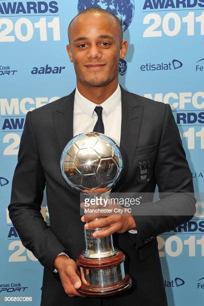 Manchester City 2011 End of Season Awards Eastlands Manchester City's Vincent Kompany with his player of the year award