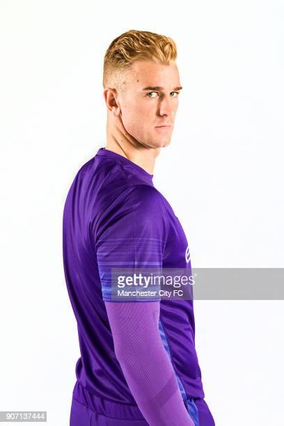 Manchester City 2015/2016 Season Kit Launch Joe Hart wearing the new Manchester City kit for the 2015/2016 football season