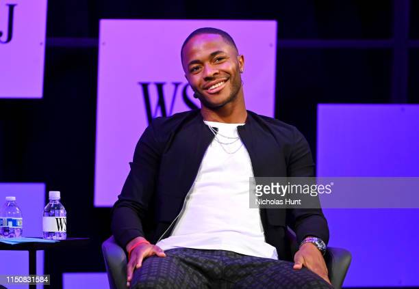 Manchester City and England International Soccer Player Raheem Sterling attends The Wall Street Journal's Future Of Everything Festival at Spring...